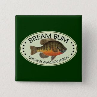 Bream Bum Fishing 15 Cm Square Badge