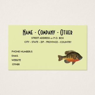 Bream Fishing Business Card