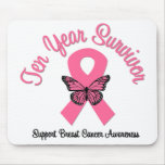 Breast Cancer 10 Year Survivor Mouse Mat