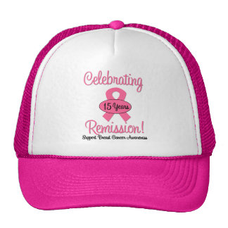 Breast Cancer 15 Year Remission Mesh Hat