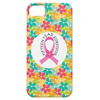 Breast Cancer 15 Year Survivor Pink Ribbon iPhone 5/5S Case
