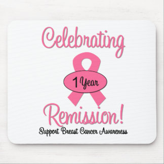 Breast Cancer 1 Year Remission Mouse Pad