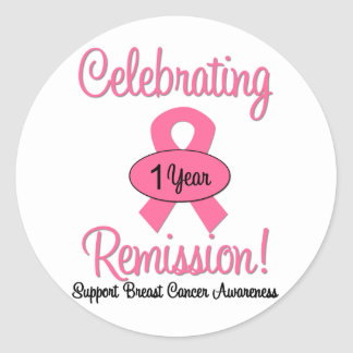 Breast Cancer 1 Year Remission Sticker