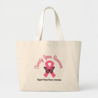Breast Cancer 20 Year Survivor Jumbo Tote Bag