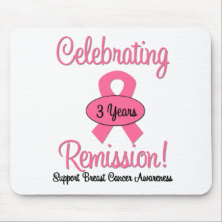 Breast Cancer 3 Year Remission Mouse Pads