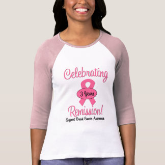 Breast Cancer 3 Year Remission Tee Shirts