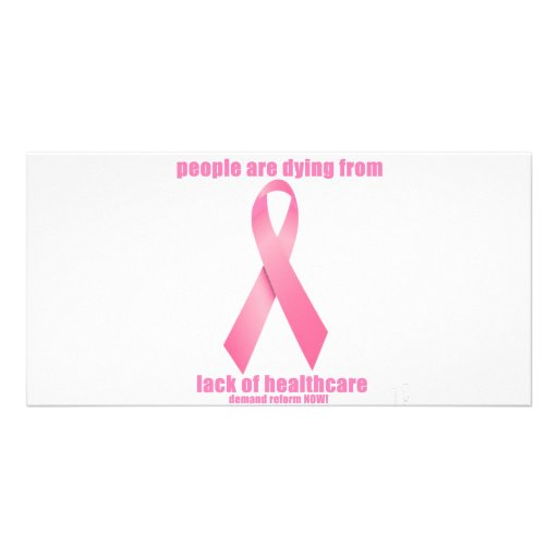 Breast Cancer and HealthCare Personalized Photo Card