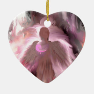 Breast Cancer Angel Christmas Ornament