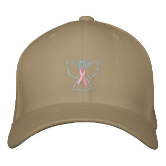 Breast Cancer Angel Hat Embroidered Baseball Cap