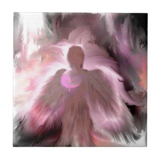 Breast Cancer Angel Tile