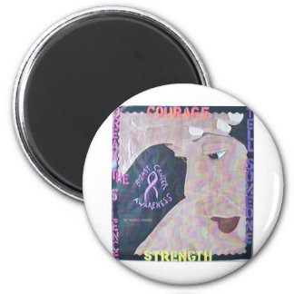 Breast Cancer Awareness 001.jpg 6 Cm Round Magnet