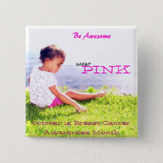 Breast Cancer Awareness 15 Cm Square Badge