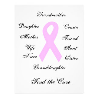Breast Cancer Awareness 21.5 Cm X 28 Cm Flyer