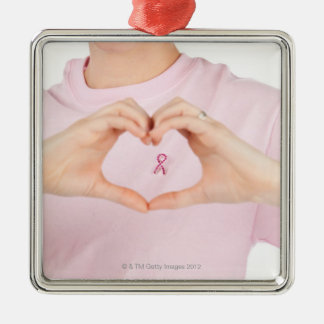 Breast Cancer Awareness 2 Christmas Ornament