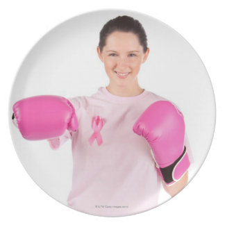 Breast Cancer Awareness 3 Party Plate