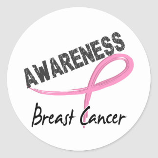 Breast Cancer Awareness 3 Round Stickers