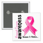 Breast Cancer Awareness 5 15 Cm Square Badge