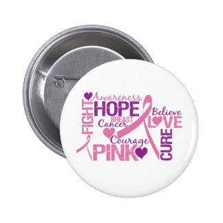 Breast Cancer Awareness 6 Cm Round Badge