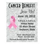 Breast Cancer Awareness Benefit Grey Floral Flyer