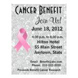 Breast Cancer Awareness Benefit Grey Floral Flyer