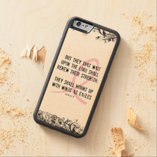 Breast Cancer Awareness Bible Verse Pink Ribbon Maple iPhone 6 Bumper Case