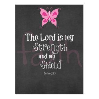Breast Cancer Awareness Bible Verse Post Card