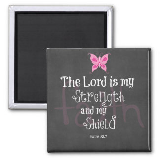 Breast Cancer Awareness Bible Verse Square Magnet