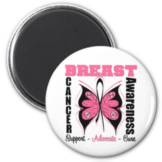 Breast Cancer Awareness Butterfly Refrigerator Magnets