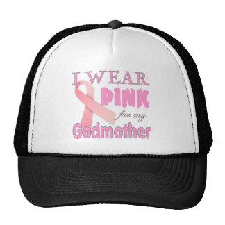 Breast Cancer Awareness Cancer T shirt Godmother Mesh Hats