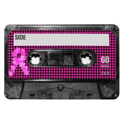 Breast Cancer Awareness Cassette Vinyl Magnet