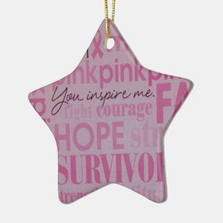 Breast Cancer Awareness Ceramic Star Decoration