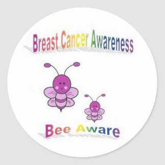 Breast Cancer Awareness Classic Round Sticker