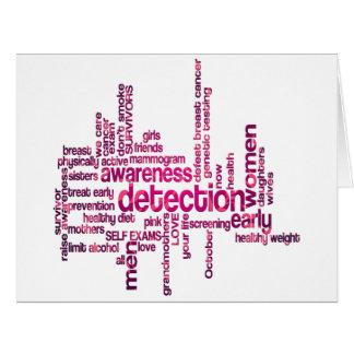 Breast Cancer Awareness Cloud Art Big Greeting Card