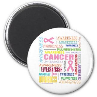 Breast Cancer Awareness Collage Fridge Magnets