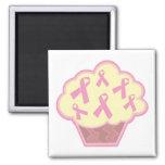 Breast Cancer Awareness Cupcake Fridge Magnet