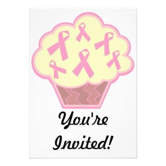 Breast Cancer Awareness Cupcake Custom Announcement