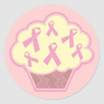 Breast Cancer Awareness Cupcake Sticker
