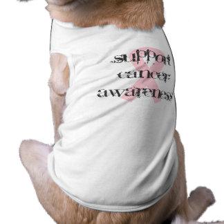 Breast Cancer Awareness Sleeveless Dog Shirt