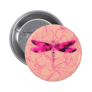 Breast Cancer Awareness Dragonfly 6 Cm Round Badge