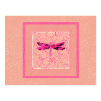 Breast Cancer Awareness Dragonfly Post Card