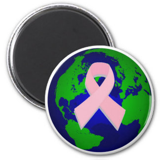 Breast Cancer Awareness for All 6 Cm Round Magnet