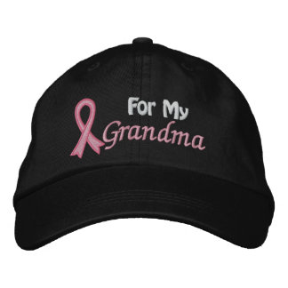 Breast Cancer Awareness For My Grandma Embroidered Baseball Cap