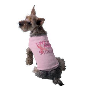 breast cancer awareness for sister sleeveless dog shirt