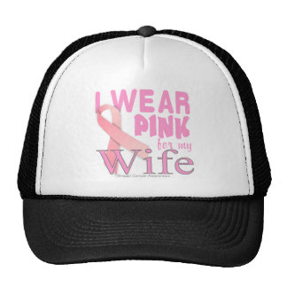 breast cancer awareness for wife trucker hats