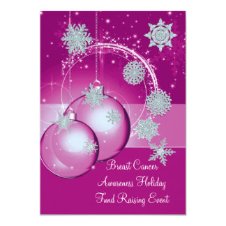 Breast Cancer Awareness Fund Raising Christmas Invitations