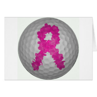 Breast Cancer Awareness Golf Ball Cards