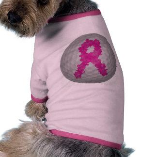 Breast Cancer Awareness Golf Ball Pet T-shirt