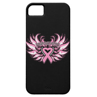 Breast Cancer Awareness Heart Wings iPhone 5 Cases