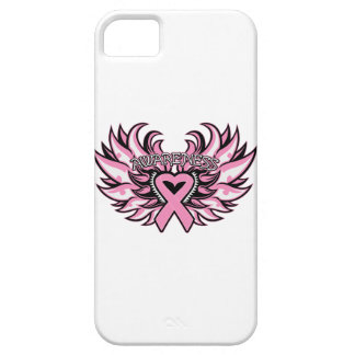 Breast Cancer Awareness Heart Wings iPhone 5 Cover