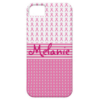 Breast Cancer Awareness iPhone Monogram Pink iPhone 5 Cover